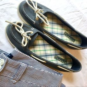 Sperry Top-Sider Navy & White Nautical Boat Shoes